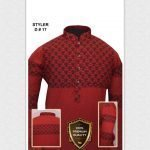 Styler D17 Red (UNSTITCHED KURTA)
