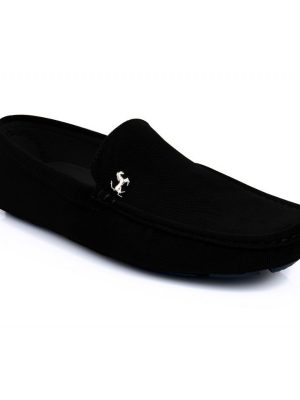 Black Stylish Ferrari Loafers For Mens