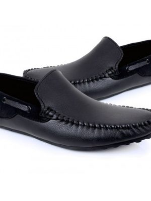 Thomas Black Casual Loafers For Mens