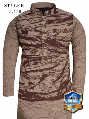 Styler D50 LIGHT BROWN (UNSTITCHED KURTA)
