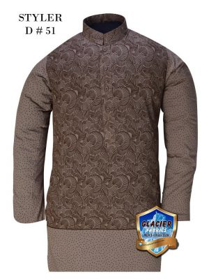 Styler D51 GREY (UNSTITCHED KURTA)
