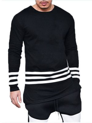 3 Strips cotton jersey black t-shirt