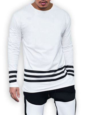 3 Strips cotton jersey white t-shirt