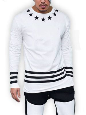 7 Stars printed cotton jersey white t-shirt