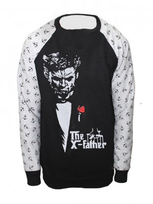 X-Father Printed American Fleece Sweatshirt