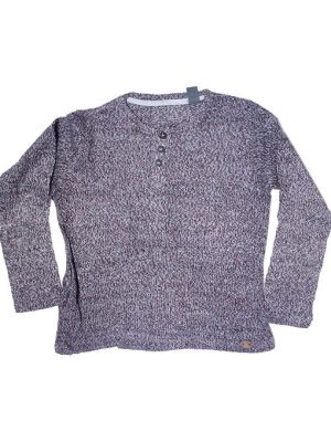 Plain Style Brown Woolen Sweater