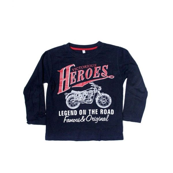Victorious Heroes Bike Printed Style T-Shirt For Boys