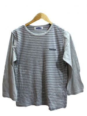 Intercrew Strips Style Cotton T-Shirt For Men