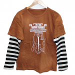 The Tree Printed Brown Cotton T-Shirt For Men