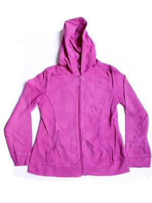 Fancy Style Fleece Zipper Hoodie For Girls