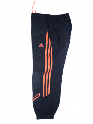 Adidas Orange Strips Black Sports Trouser For Boys