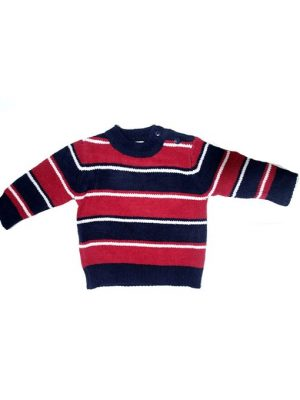 Strips Style Colorful Woolen Sweater For Babies