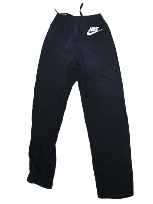 Nike Button Style Black Polyester Trouser For Men