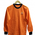Fit Sleeve Style Plain Orange Cotton T-Shirt