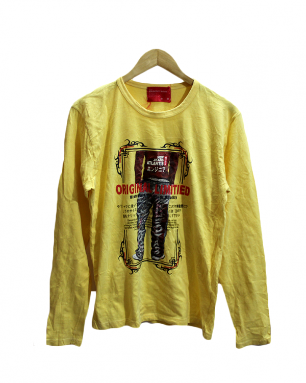 Original Limited Printed Yellow Cotton T-Shirt