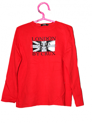 London Crux Printed Red Cotton T-Shirt