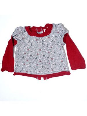 Flower Printed Style Frock For Girls