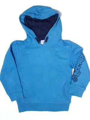 Pocket Style Sleeve Printed Fleece Hoodie