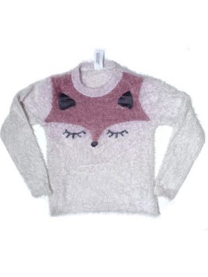 Animal Printed Fancy Woolen Sweater