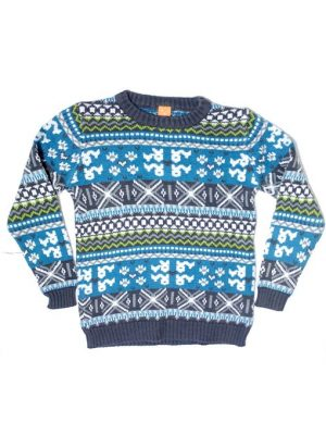 Printed Design Colorful Woolen Sweater