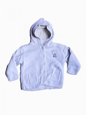 Pocket Style Printed Fleece Hoodie For Babies