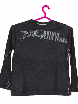 Calvin Klein Printed Black Cotton T-Shirt For Boys