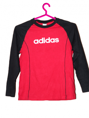 Adidas Fit Style Red Cotton T-Shirt