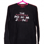 Polham Jeans Printed Black Cotton T-Shirt