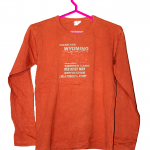 Grassland Printed Orange Cotton T-Shirt