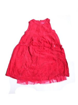 Sleeveless Net Style Frock For Girls