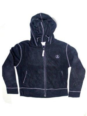 Stitched Style Zipper Fleece Hoodie