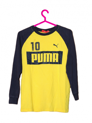 Puma Printed Yellow Cotton T-Shirt For Men