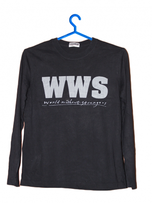 Giordano WWS Printed Black Cotton T-Shirt For Men