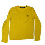 Polham Printed Yellow Cotton T-Shirt For Men