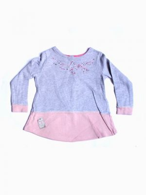 Simple Embroidery Cotton Sweatshirt For Girls