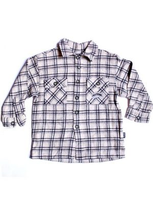 Autumn Check Style Cotton Shirt For Boys