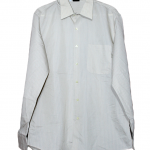 Mom Plain White Cotton Shirt For Men
