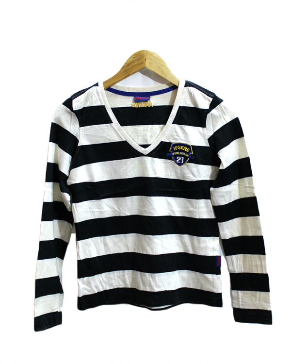 N'Gene Strips Style Cotton T-Shirt For Men