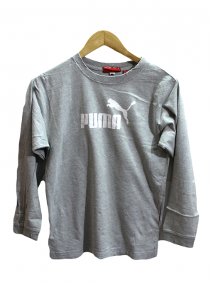 Puma Printed Grey Cotton T-Shirt For Men