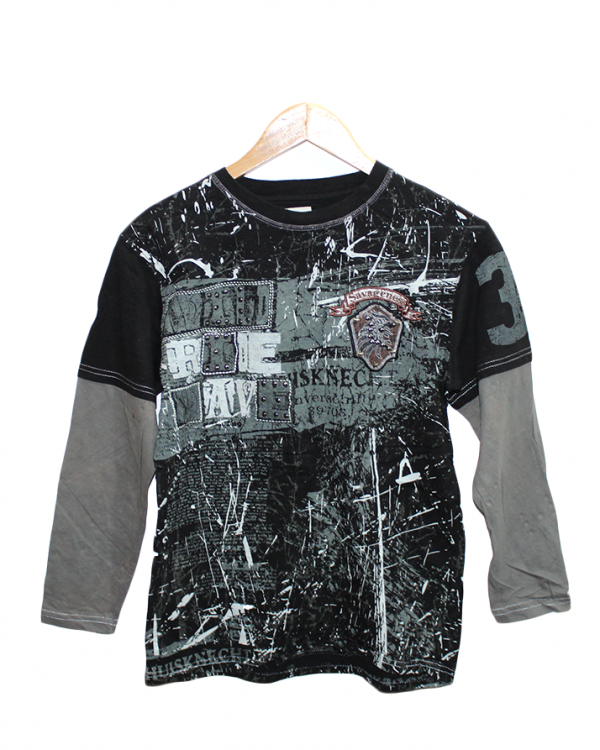 Colorful Printed Style Cotton T-Shirt For Men