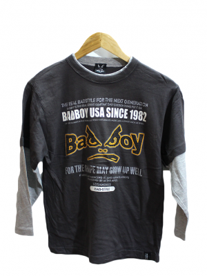 Badboy Printed Black Cotton T-Shirt For Men