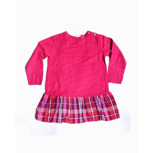 Bottom Strips Style Pink Top For Girls