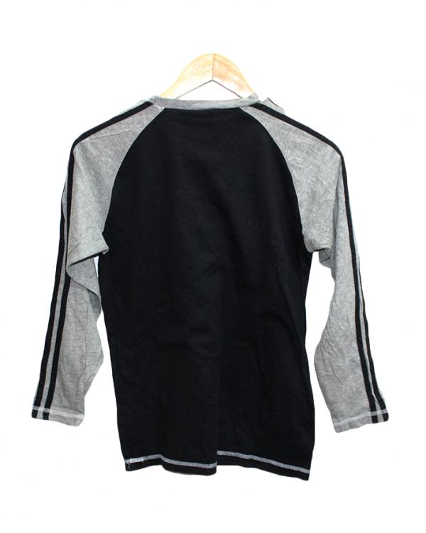 Adidas Plain Style Black Cotton T-Shirt