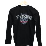 K-Swiss Plain Black Cotton T-Shirt