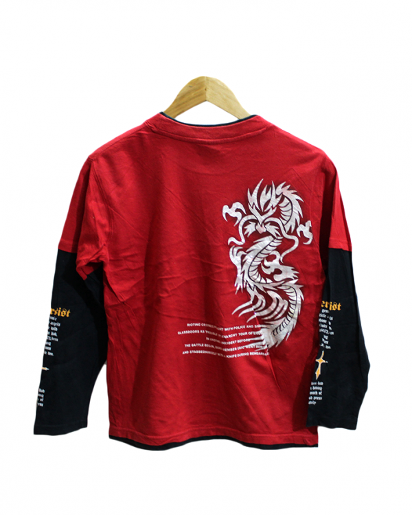 Bersist Printed Style Red Cotton T-Shirt