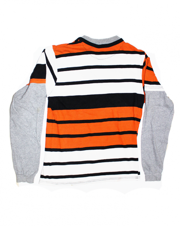 Nadry Strips & Fit Sleeve Style Printed Cotton T-Shirt For Men
