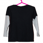 Vintage Printed Style Black Cotton T-Shirt For Men