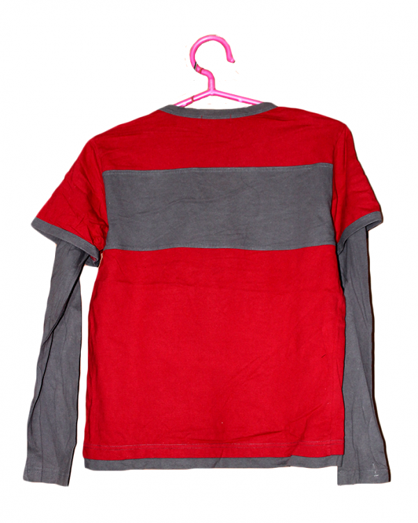 EarthBorn Sound Printed Red Cotton T-Shirt For Men