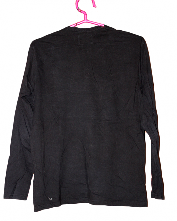 Okay Plain Black Cotton T-Shirt For Men