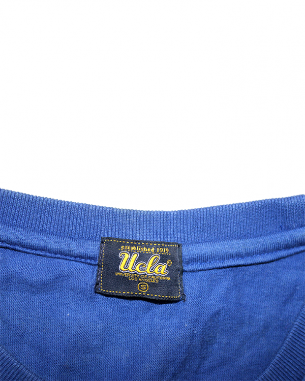 Ucla Printed Blue Cotton T-Shirt For Men